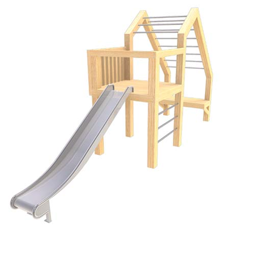 natural playground equipment climbing frame no.21