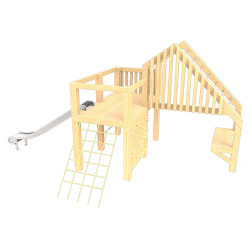 natural playground equipment climbing frame no.22