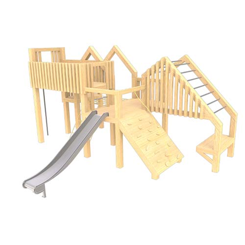 natural playground equipment climbing frame no.24
