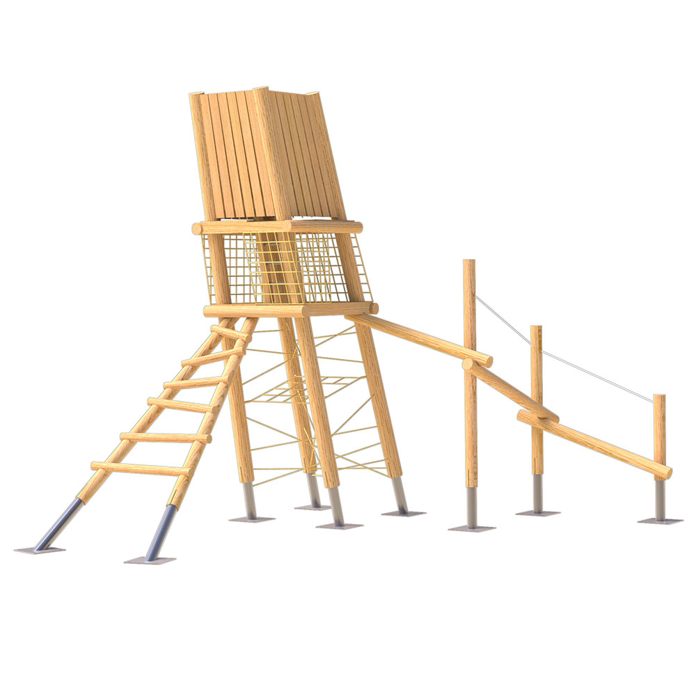 natural playground equipment robinia climbing frame no 4
