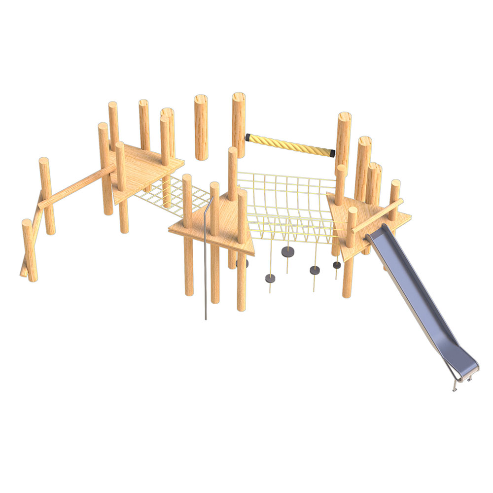 natural playground equipmentrobinia climbing frame no 5