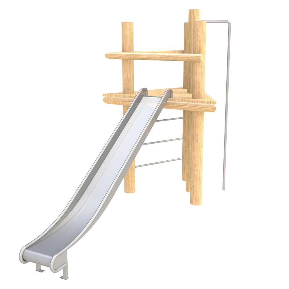 natural playground equipment robinia climbing frame no 6