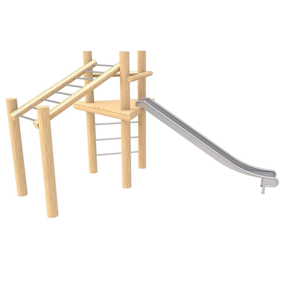 natural playground equipment robinia climbing frame no 7
