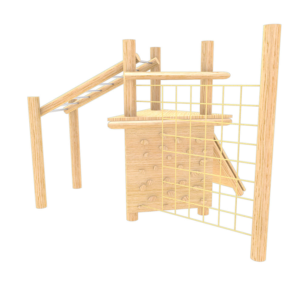 natural playground equipment robinia climbing frame no 8