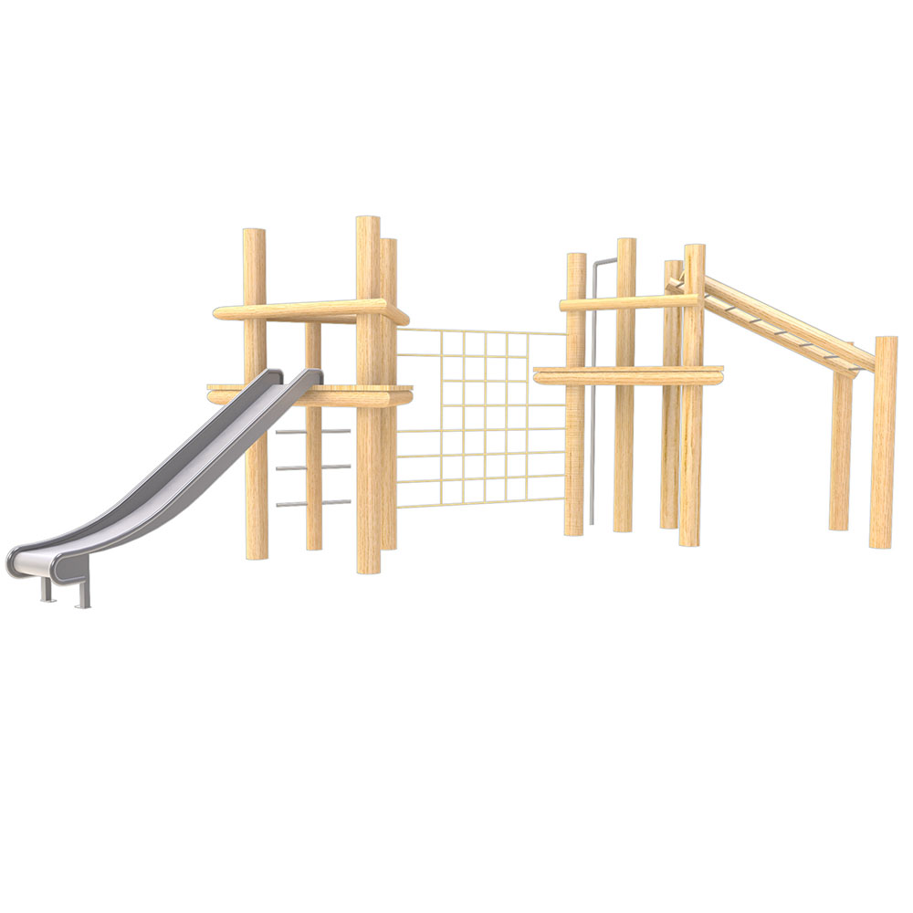 natural playground equipment robinia climbing frame no 9