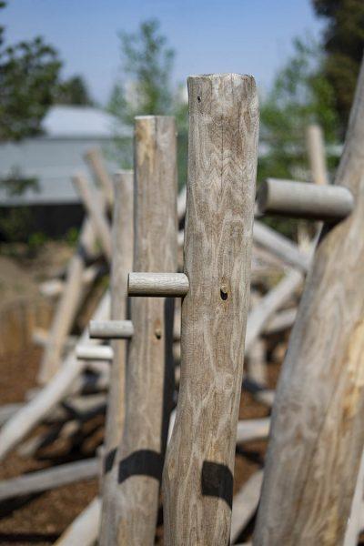 trim trail playground equipment climbing stilts