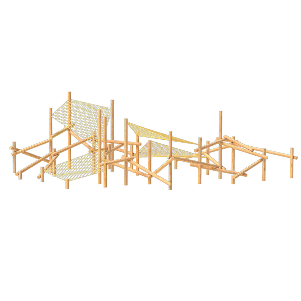 natural playground equipment log climbing frame no.5