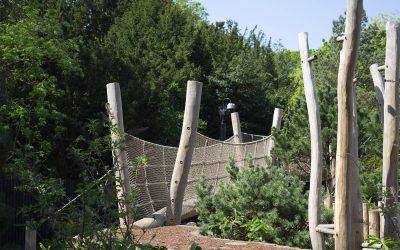 trim trail playground equipment robinia net bridge