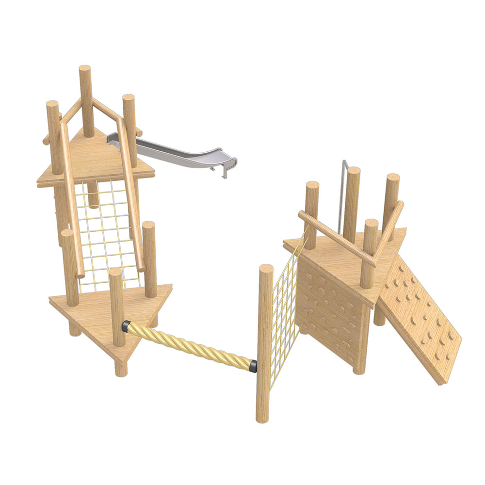 natural playground equipment robinia climbing frame no.11
