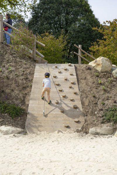 trim trail playground equipment climbing ramp