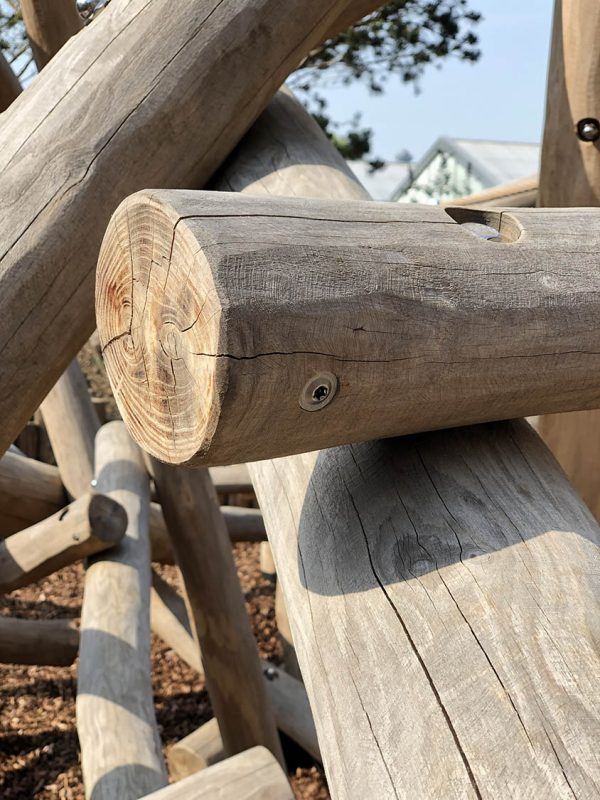 natural log climbing frame