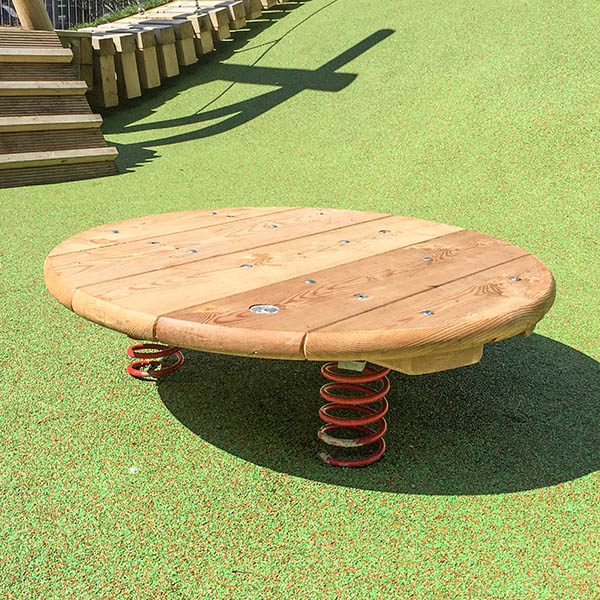 playground equipment jumping disc