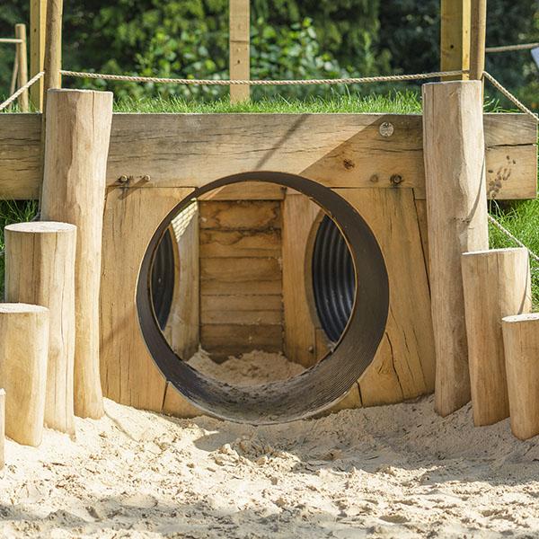 playground equipment tunnel