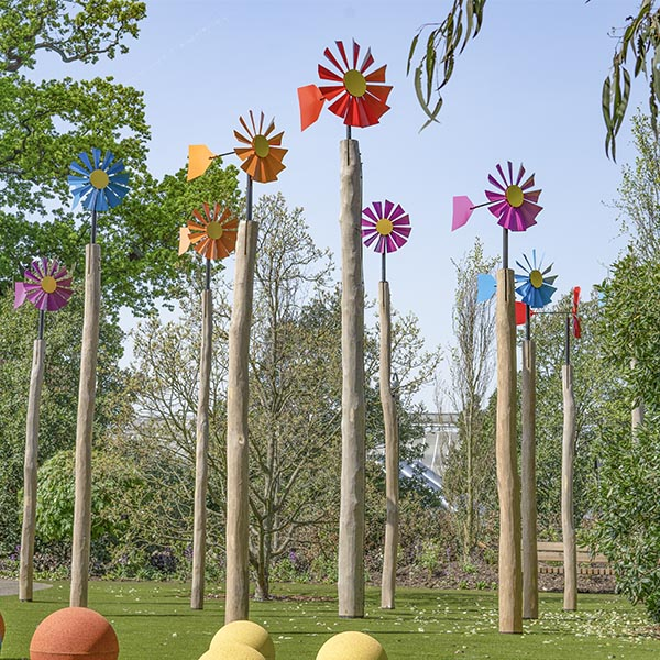 playground equipment windmill flower