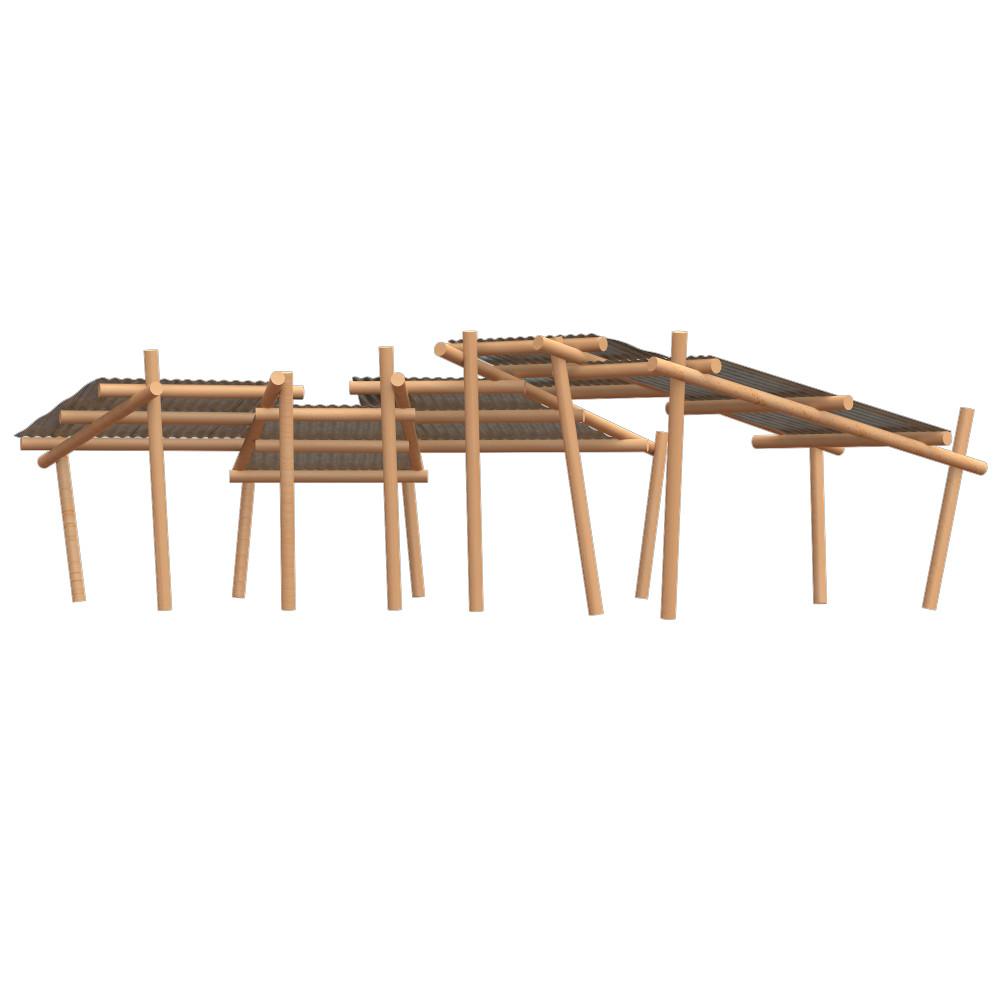 playground equipment timber shelter