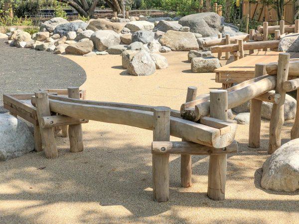 log water trough