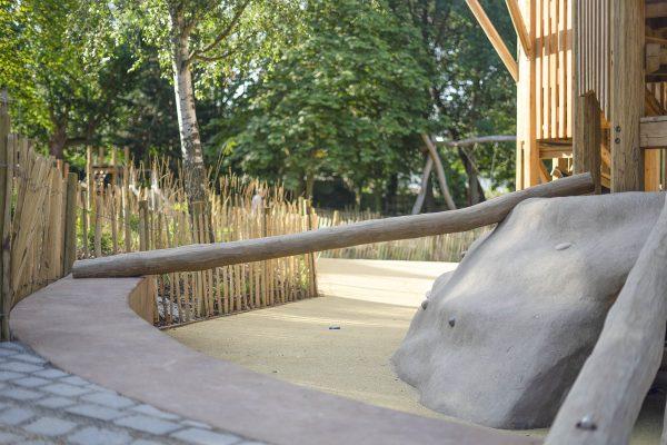 natural playground equipment balance log