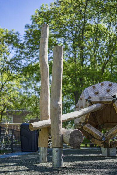 natural playground equipment climbing frame no.4