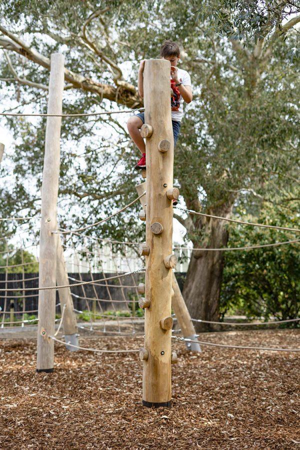 natural playground equipment climbing trunk