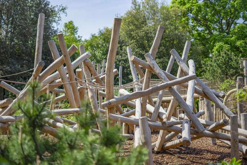 natural playground equipment log climbing frame no.4