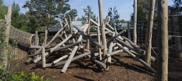 natural playground equipment log climbing frames