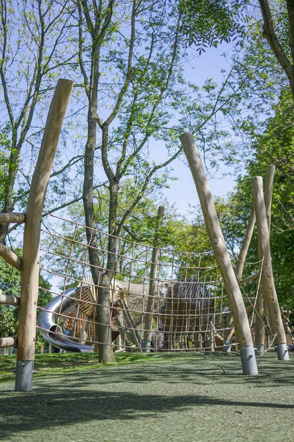 natural playground equipment net trail