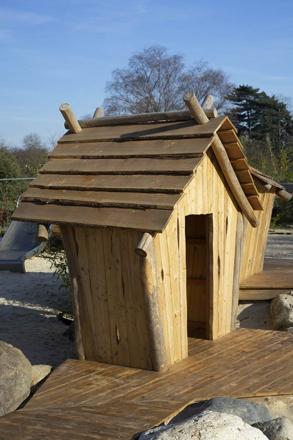 natural playground equipment play hut