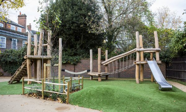 natural playground equipment robinia climbing frame no 11