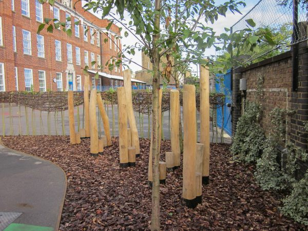 natural playground equipment stepping poles