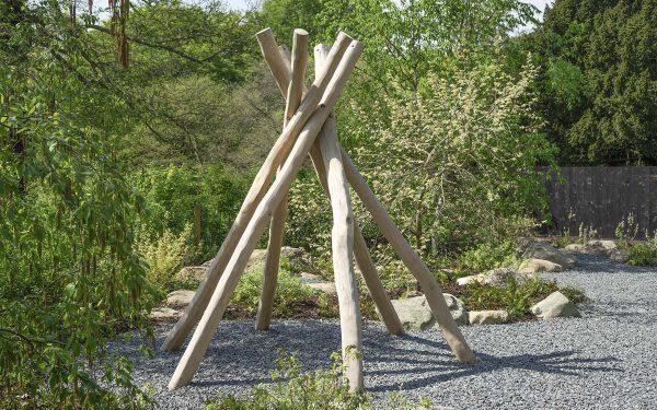 natural playground equipment teepee