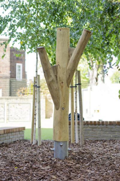 natural playground equipment climbing tree