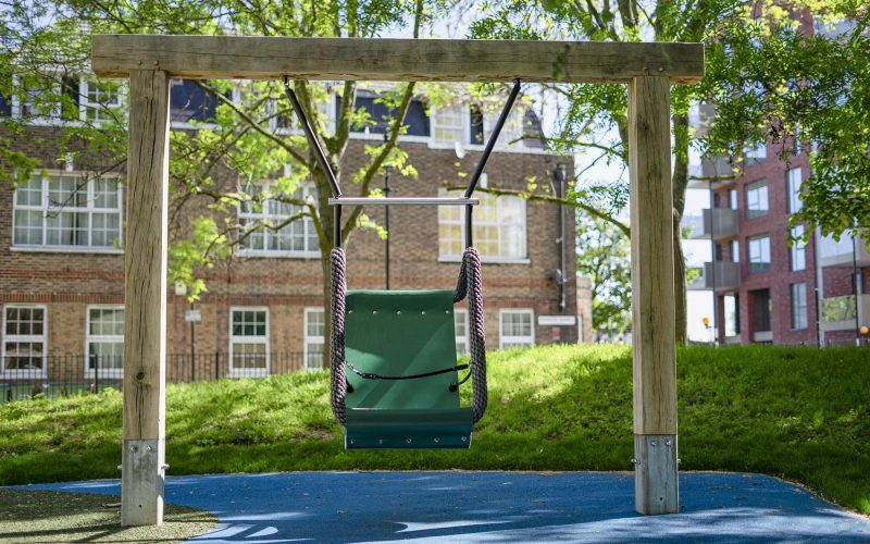 accessible playground swing
