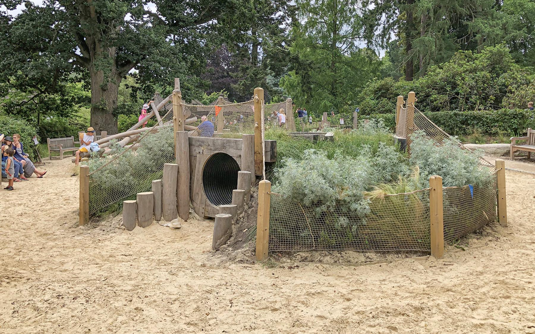 playground equipment tunnels and mounds