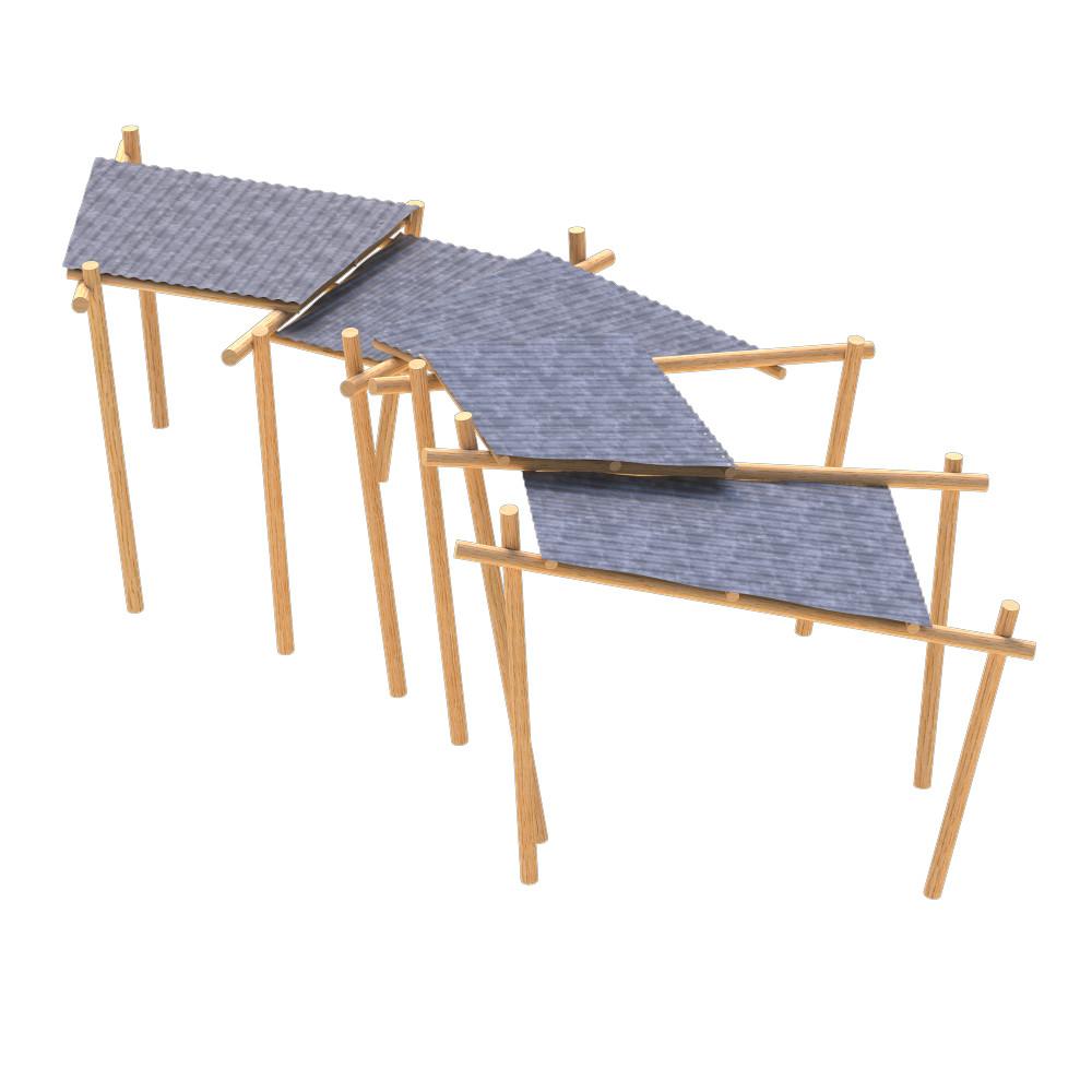 timber shelter playground equipment