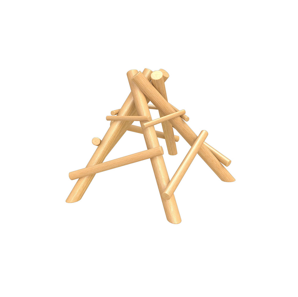 natural playground equipment log climbing frame
