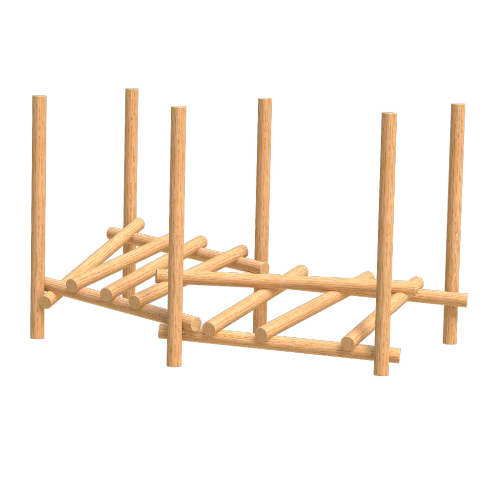 natural playground equipment log climbing frame number seven