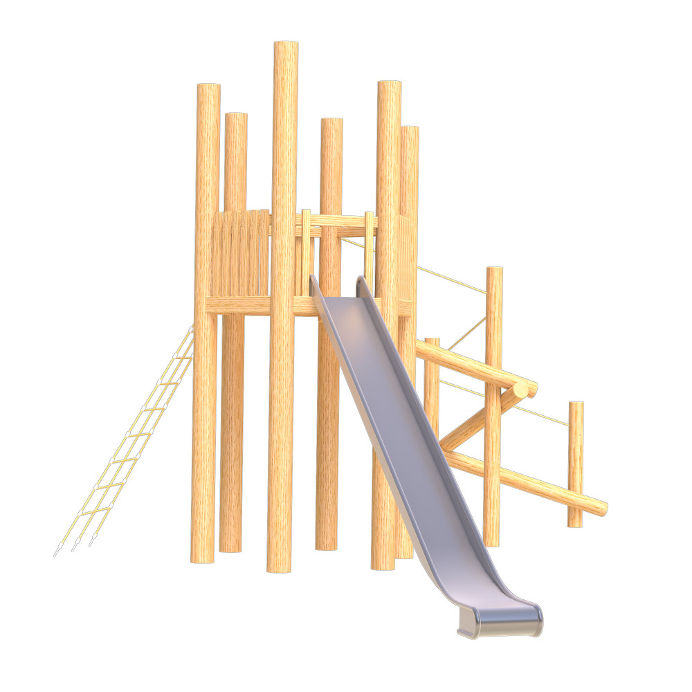natural playground equipment robinia climbing frame number fifthteen