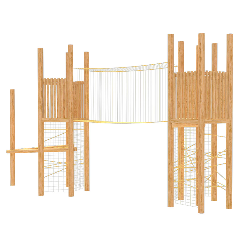 natural playground equipment robinia climbing frame number nineteen