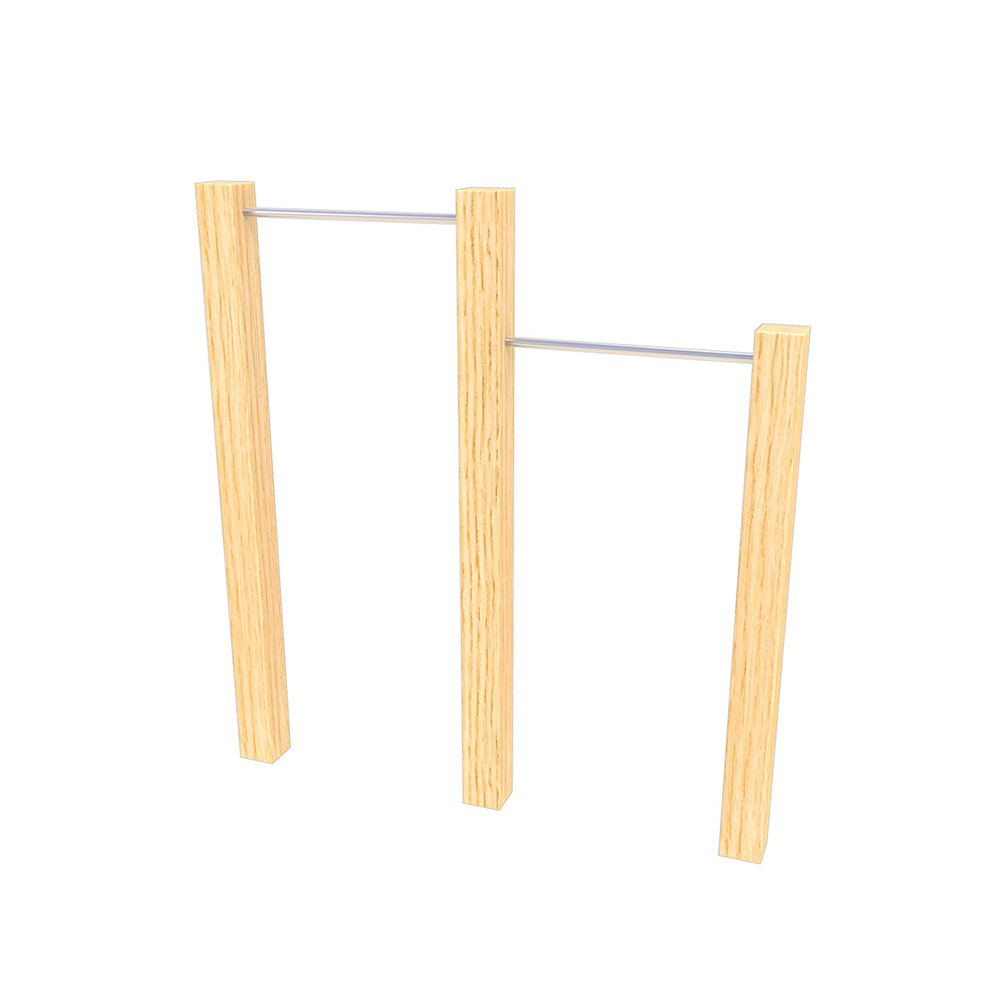 outdoor fitness equipment tiered pull up bars