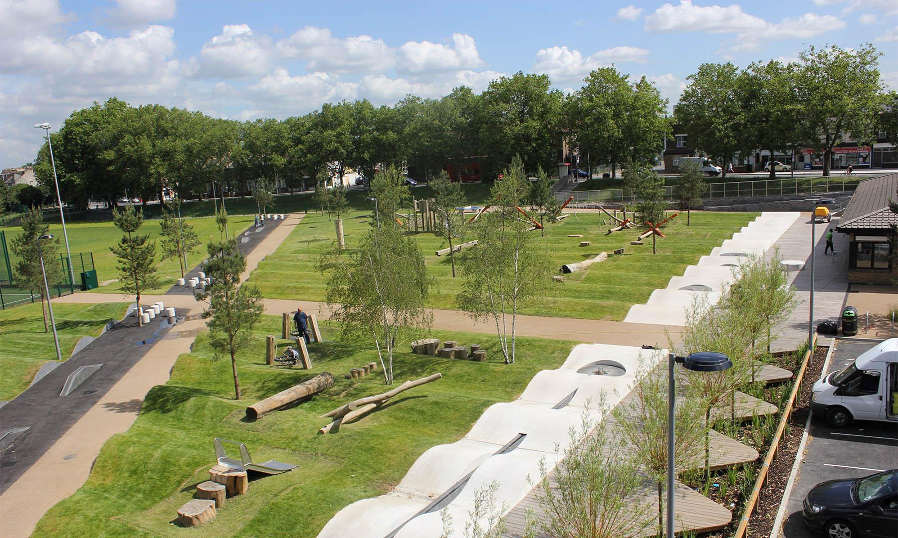playground equipment drapers field