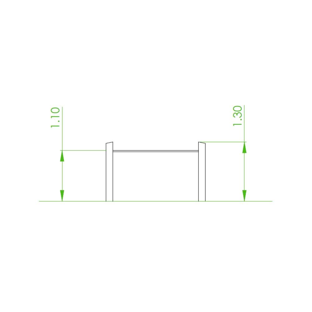 Natural playground equipment parallel bars