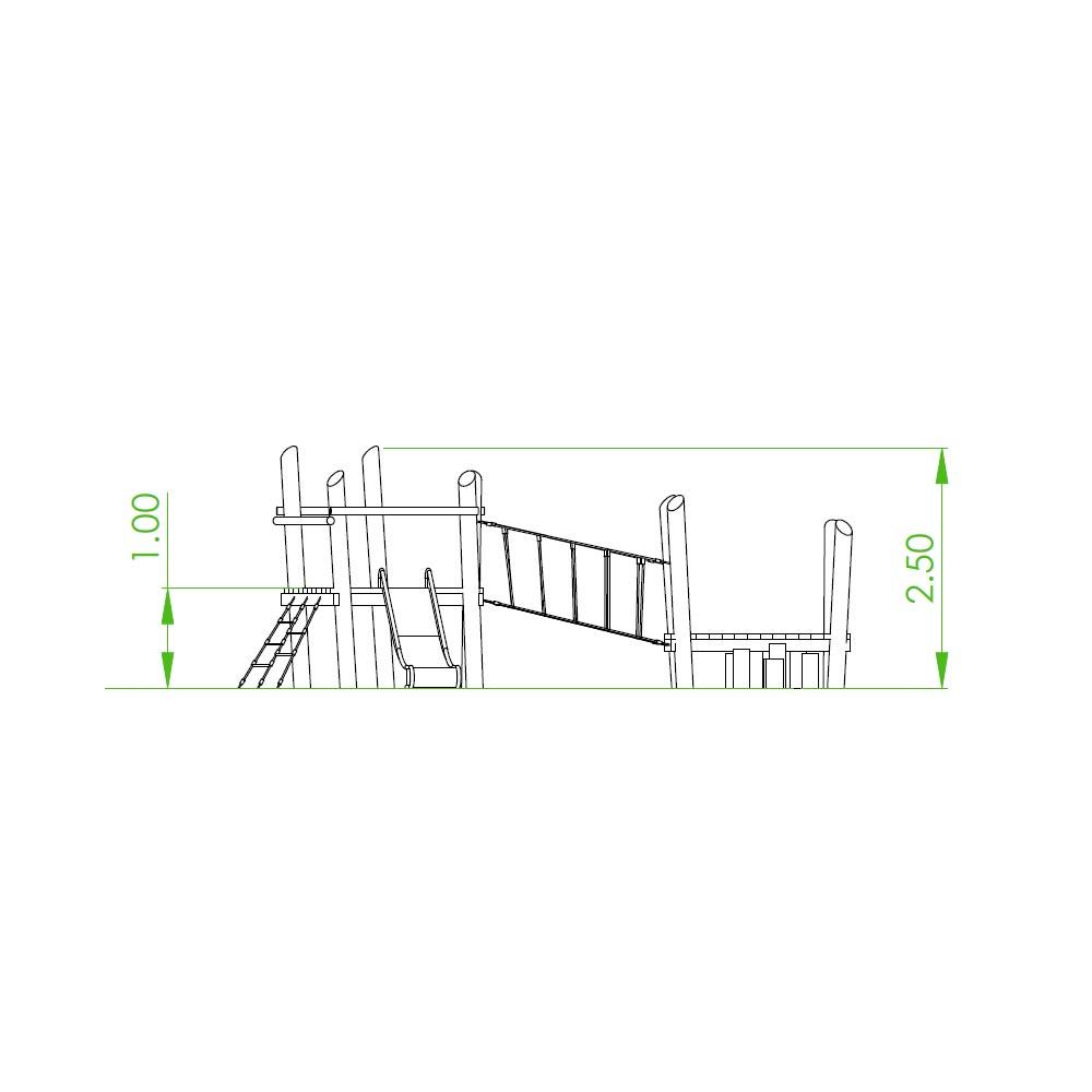 Natural playground equipment climbing frame no.23