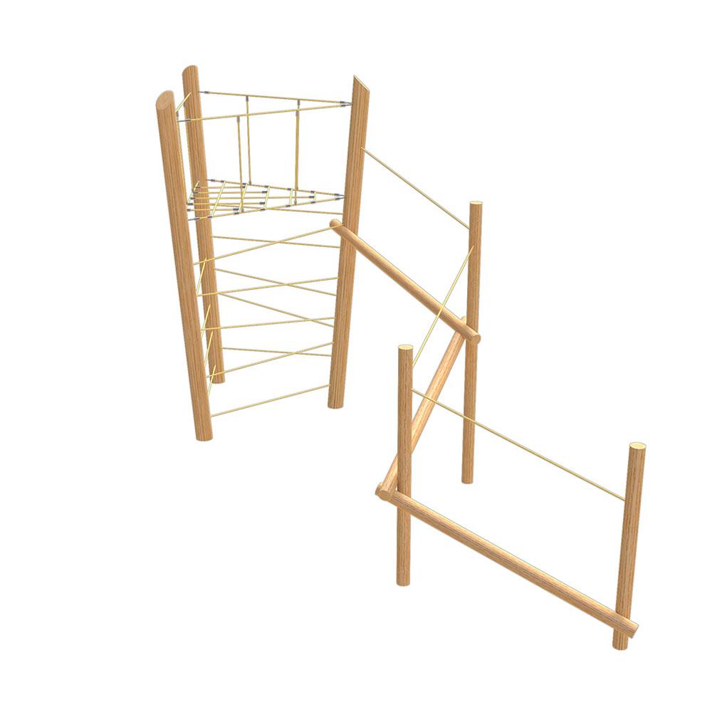 natural playground equipment tunnel net no.1