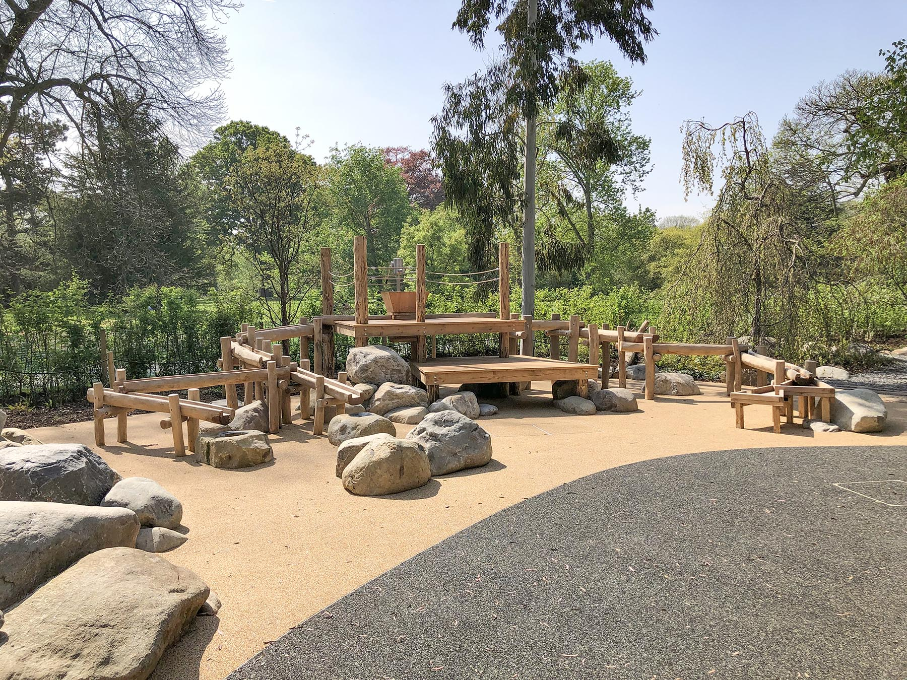 bespoke playground equipment water garden