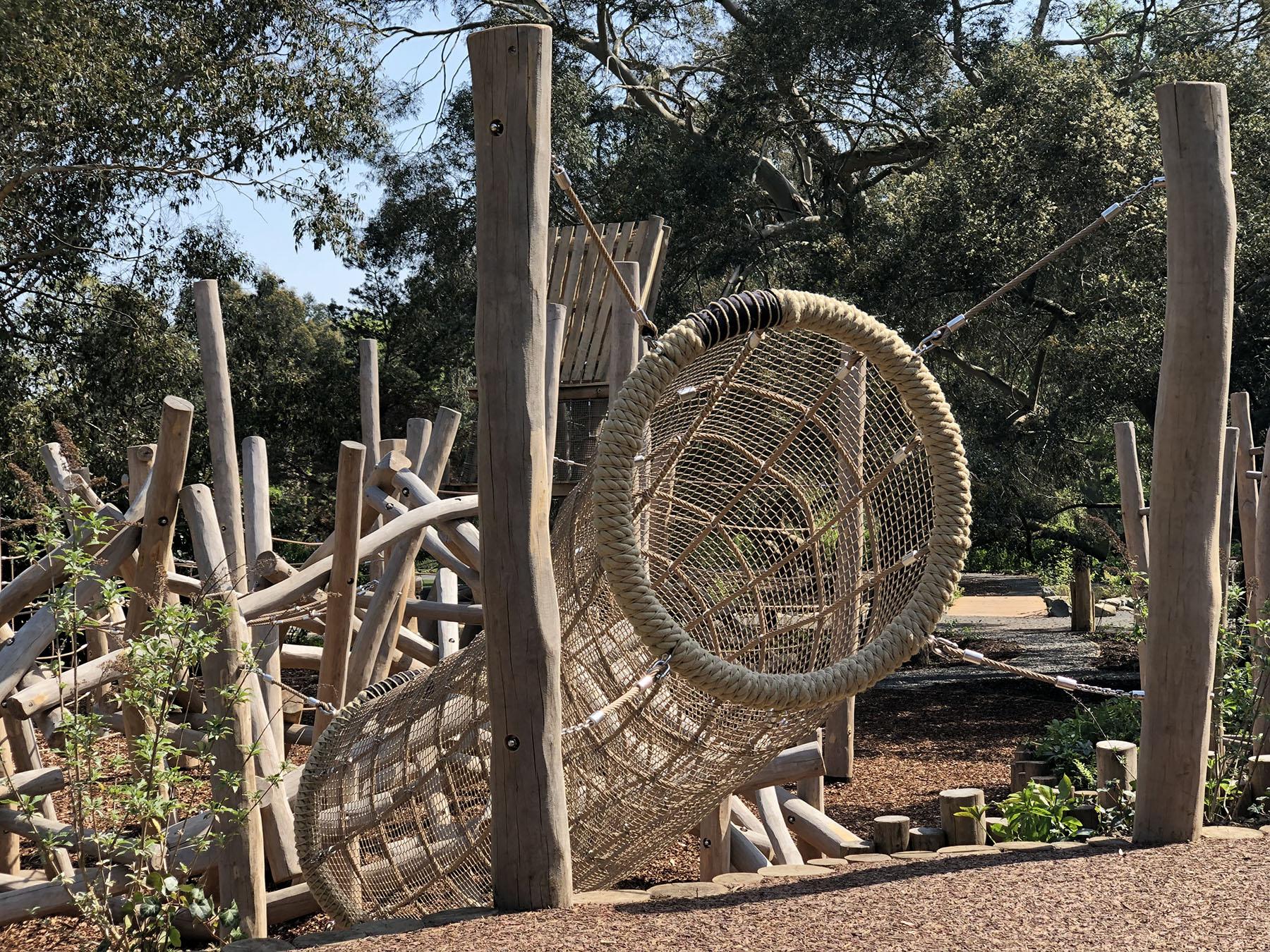 natural playground equipment climbing net