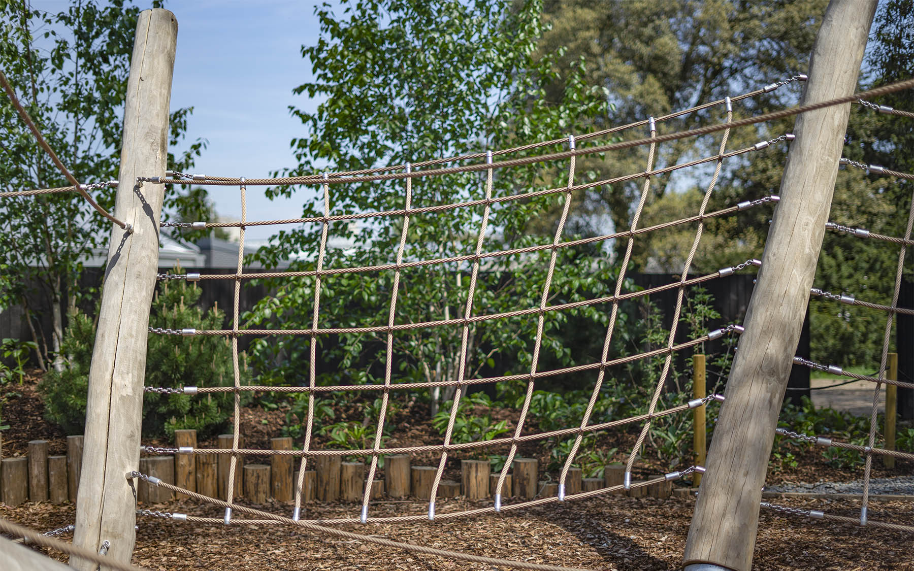 natural playground equipment climbing net