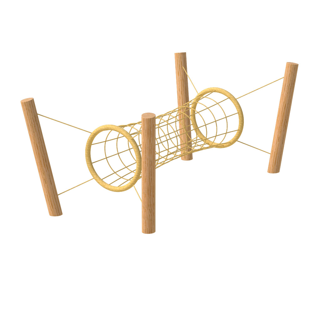 natural playground equipment climbing nets