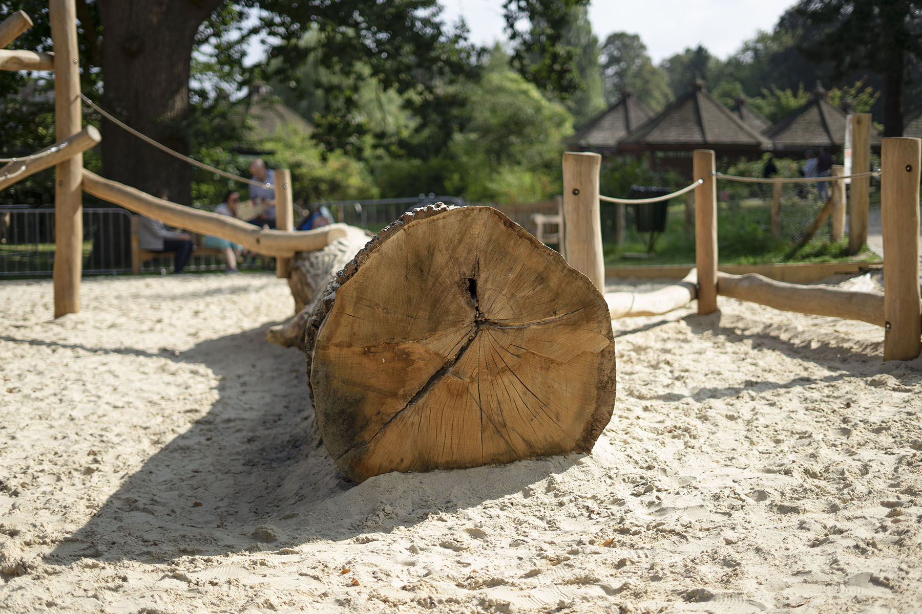 natural playground equipment log climbing frame