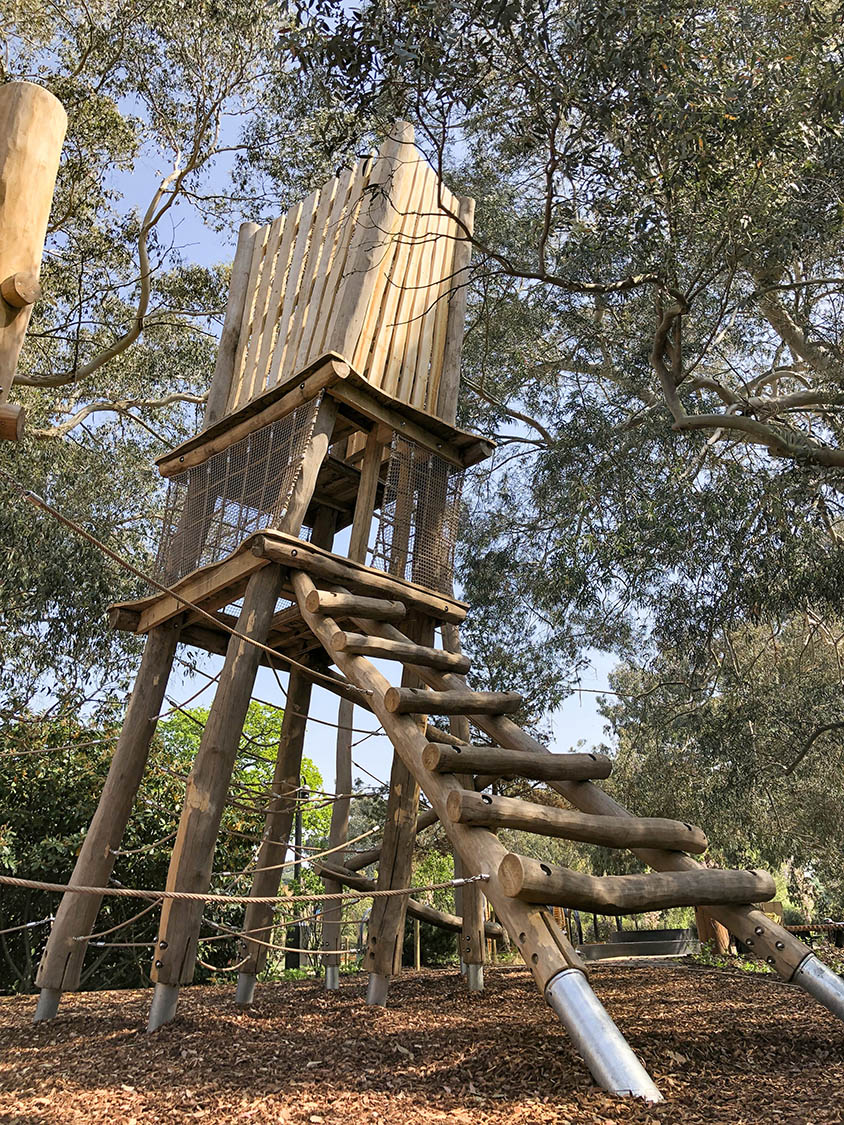 natural playground equipment robinia climbing frame