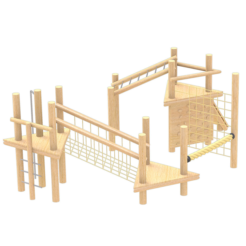 natural playground equipment robinia climbing frame number five